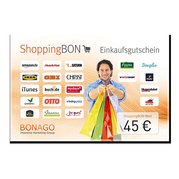45 € ShoppingBON